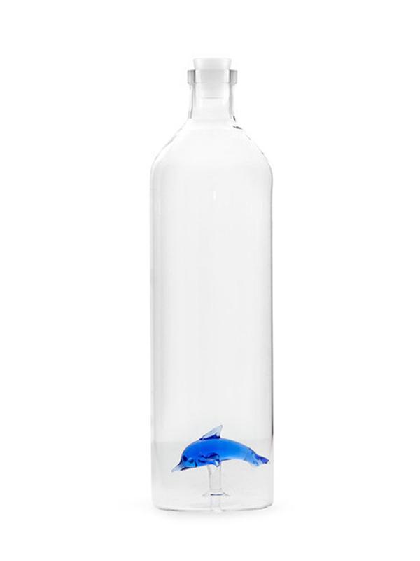 Bouteille/ carafe d'eau en verre