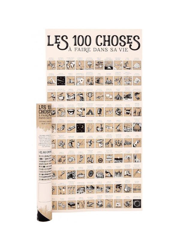 Affiche 100 choses à faire